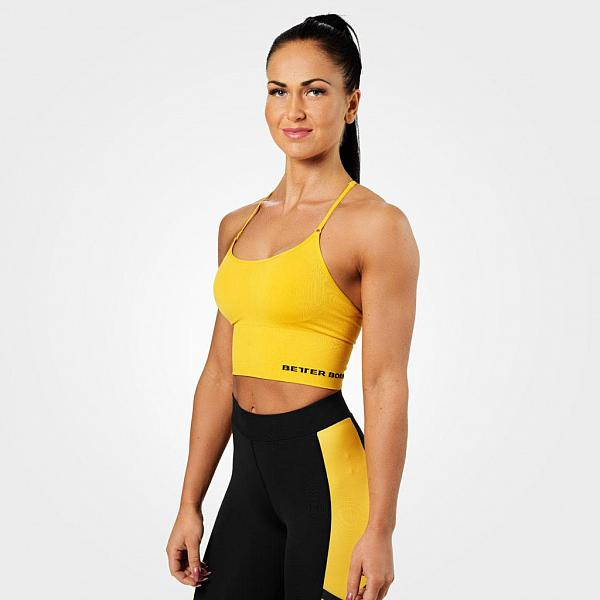 Better Bodies Astoria Seamless Bra - Yellow Detail 1